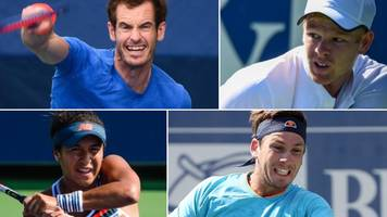 andy murray, kyle edmund, heather watson & cameron norrie ready for us open
