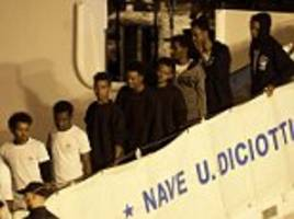 italy finally allows 137 migrants stranded on a coast guard ship for ten days to disembark