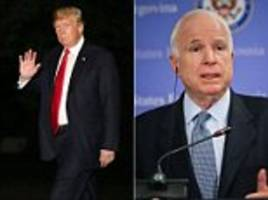 trump refused to approve a white house statement calling john mccain a hero after his death