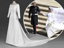 meghan markle's wedding gown will go on display at windsor castle exhibition in october
