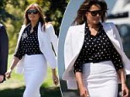 new footage of melania trump gets the internet wondering if flotus really does have a body double