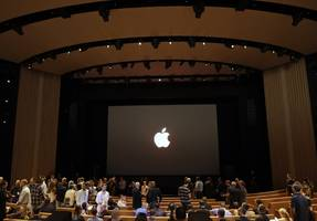 apple has patented the design of steve jobs theater, the underground auditorium on its $5 billion campus (aapl)