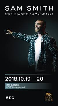 sam smith debuts in macau at mgm cotai on october 19 & 20