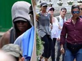michelle obama goes hiking in mallorca with a heavy security detail