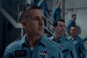 'first man' film review: ryan gosling and damien chazelle slip the surly bonds of earth