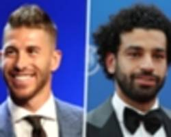 ramos and salah reunion ends with real madrid defender trolling liverpool star with shoulder touch