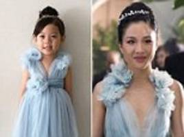 ha truong's five-year-old daughter recreates constance wu's ballgown look in crazy rich asians