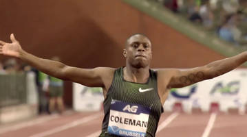 watch: christian coleman runs fastest 100 meters since 2015 with 9.79  diamond league win