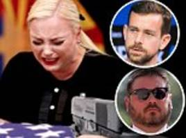 meghan mccain's husband blasts twitter ceo after troll posts photo of her with a gun to her head