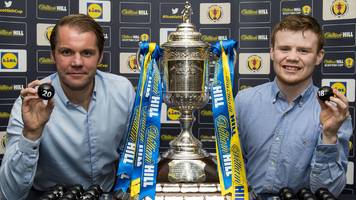 familiar foes match up in scottish cup first round