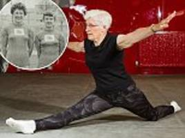 grandmother continues to practice gymnastics at the age of 84