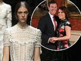 is one of these designers creating princess eugenie's wedding dress?