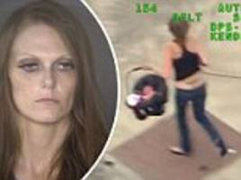 woman leads texas cops on high-speed chase, crashes vehicle and attempts carjack while carrying baby