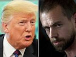 twitter ceo says company could ban trump for breaking rules about abusive tweets