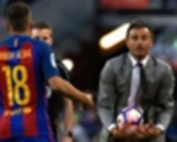 what is spain boss luis enrique's problem with barcelona star jordi alba?