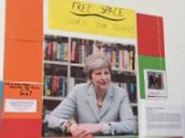 theresa may portrait returns to oxford university after it was taken down over 'hostile environment'