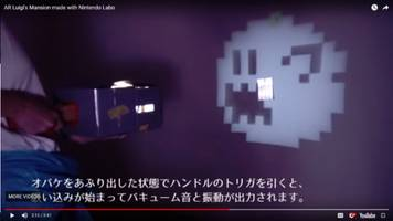 this fan-made nintendo labo ar game is luigi's mansion 2.5