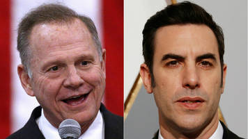 roy moore sues sacha baron cohen for defamation over tv stunt