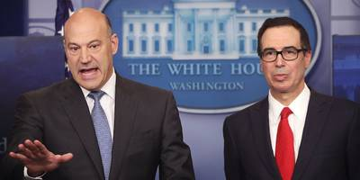bob woodward book: trump told gary cohn he 'hired the wrong guy for treasury secretary' right in front of steven mnuchin