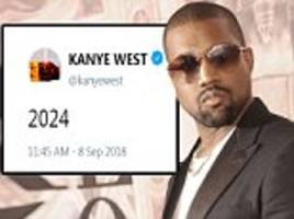 kanye west teases presidential run with '2024' tweet