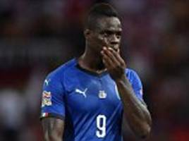 Mario Balotelli dropped for Italy's UEFA Nations League clash with Portugal