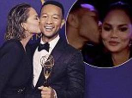 chrissy teigen pays tribute to husband john legend at the creative arts emmys