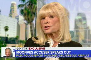 les moonves accuser on ex cbs ceo's denial he hurt any woman's career: 'that's a joke' (video)