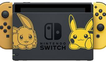 pokémon: let's go-themed switch turns eevee and pikachu into joy-con