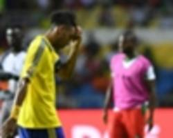 aubameyang and lemina out of gabon friendly against zambia