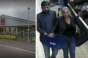 old lady, 92, has handbag stolen from this aldi supermarket - do you recognise this couple?