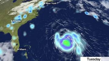 storm moves closer to us east coast
