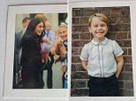 meghan sends a postcard for her first solo royal thank you letter