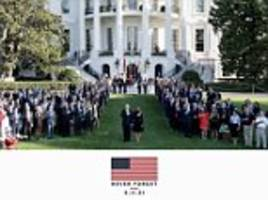 trump honors 9/11 by posting photo of white house staff
