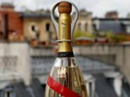 space age bottle of luxury mann champagne is made for wealthy tourists in orbit