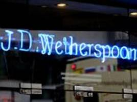 jd wetherspoon replaing range of european spirits with products from uk and non-eu countries