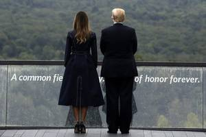 trump pays tribute to 'immortal' heroes of flight 93 on 17th anniversary of 9/11