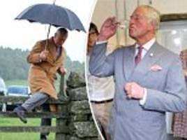 prince charles enjoys a martini on northumberland tour