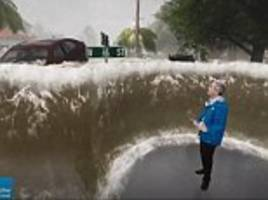 video shows what nine feet of hurricane florence storm surge will look like