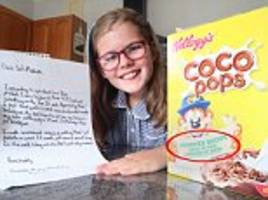 Bournemouth girl Hannah-Marie Clayton 10 gets Kellogg's to change sexist approved by mums slogan