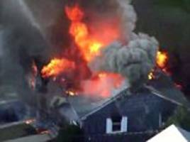 major gas line problem causes 50 explosions in homes outside of boston