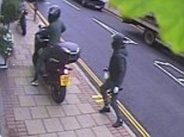 moped gang with knives and acid use 'road closed'