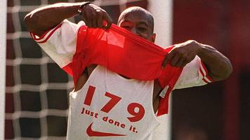 a long wait, celebrating the wrong goal, and that vest - wright recalls breaking arsenal goalscoring record