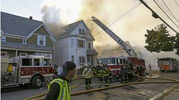 series of explosions set fire to massachusetts homes