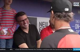 Cancer survivor Jay Handy reunited with childhood hero Don Mattingly