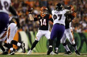 Andy Dalton throws 4 TDs, leads Bengals to 34-23 win over Ravens on Thursday Night Football
