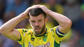 grant hanley: norwich city defender out for six weeks with quad injury
