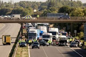 police update on devastating m5 crash as two fight for life
