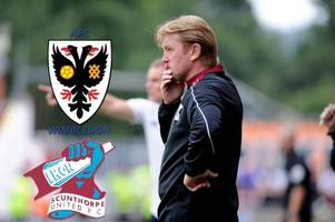 pick your scunthorpe united team to face afc wimbledon