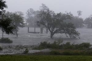 Catastrophic Flooding Reported As Hurricane Florence Moves Across The Carolinas