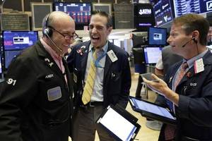 stocks up as tech bounces, storm fears ease